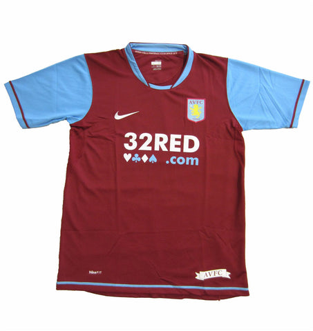 Nike Aston Villa Boys Home Jersey Shirt 2007/08