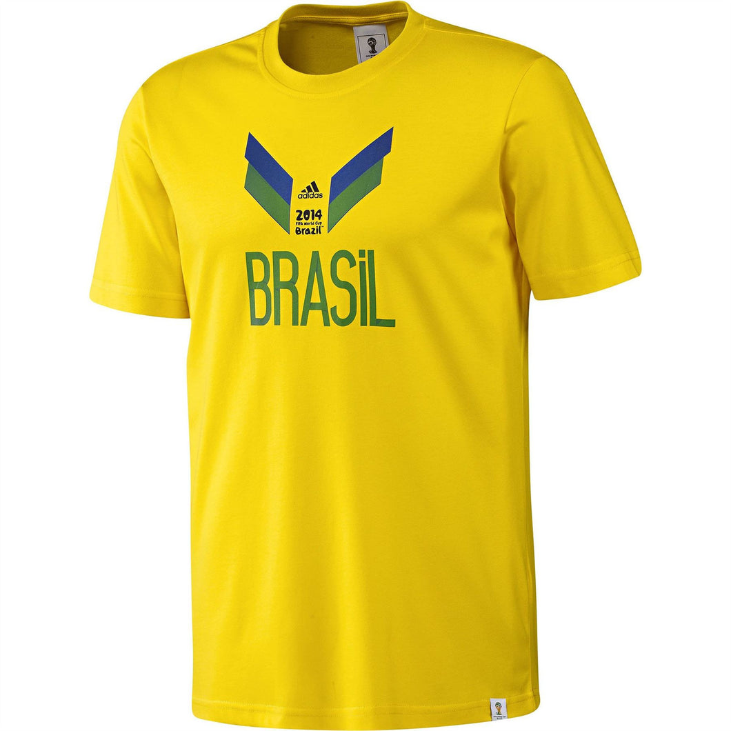 adidas 2014 FIFA World Cup Brazil T-Shirt Yellow Mens