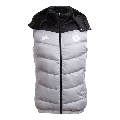 adidas Real Madrid Down Vest Gilet Jacket Silver Mens