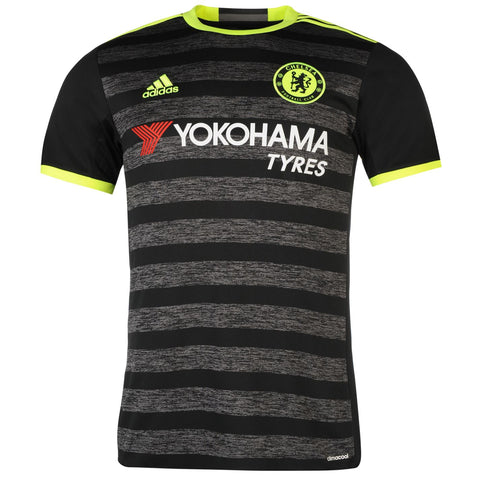 Adidas Chelsea FC Away Jersey 2016 2017 Mens Black/Yellow