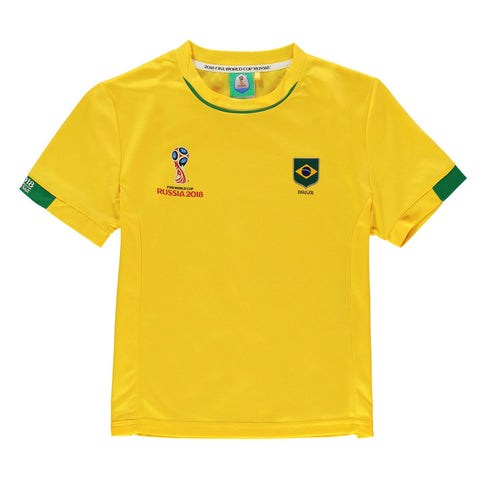 Kids Football T-shirt Brazil