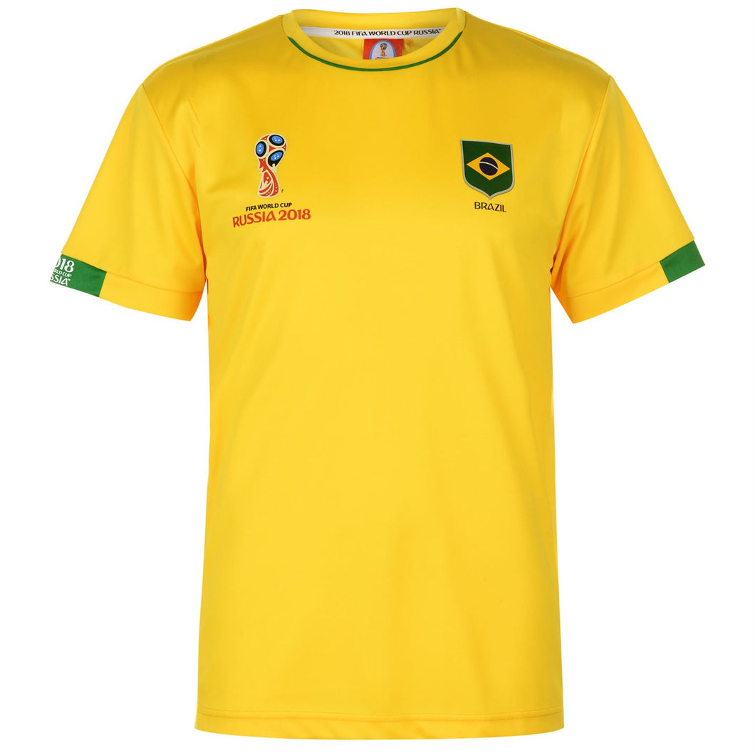 Mens Football T-shirt Brazil