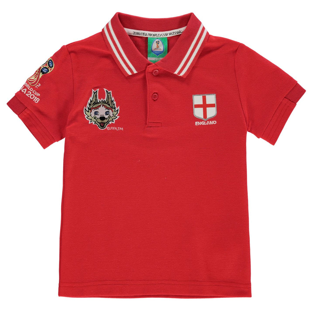 Kids Football Polo Shirt England