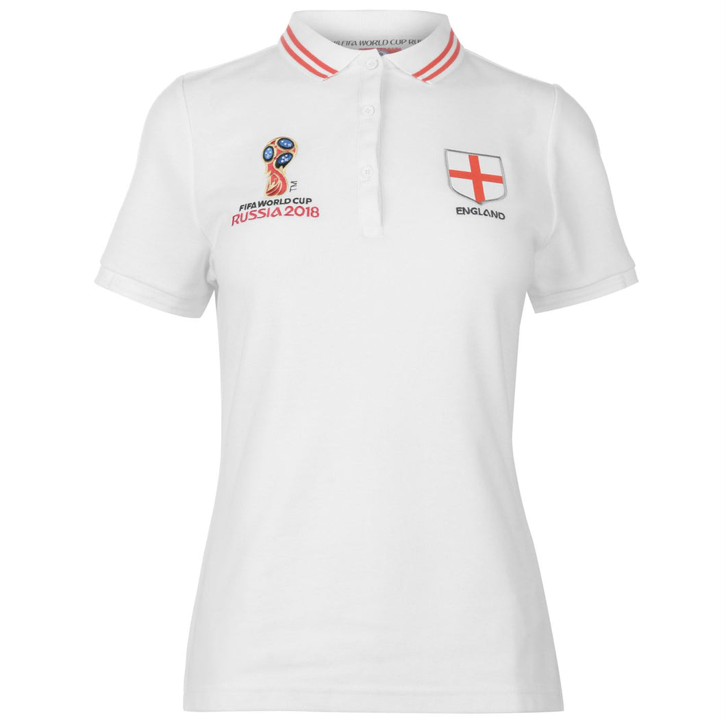Womens Football Polo Shirt England
