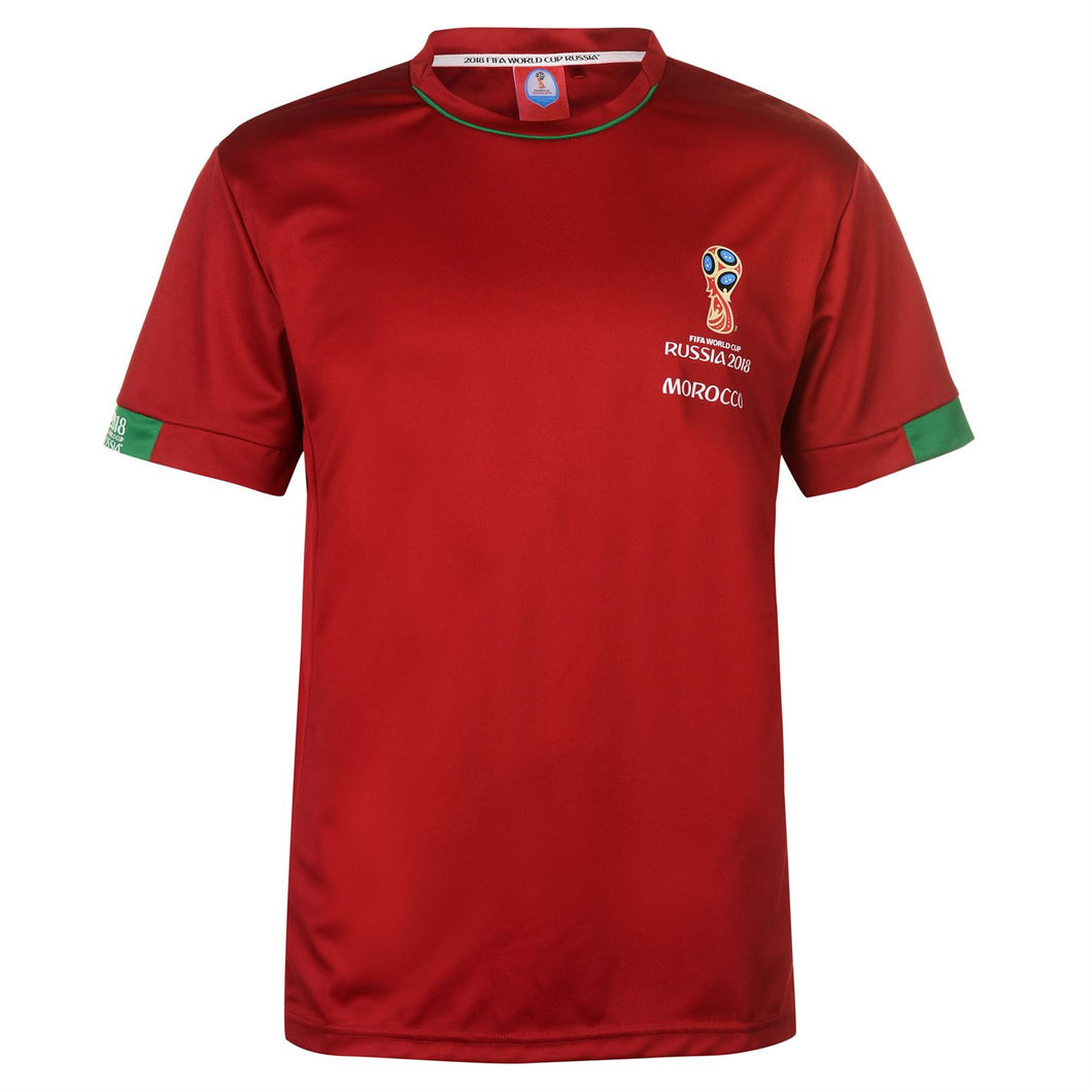Mens Football T-shirt Morocco