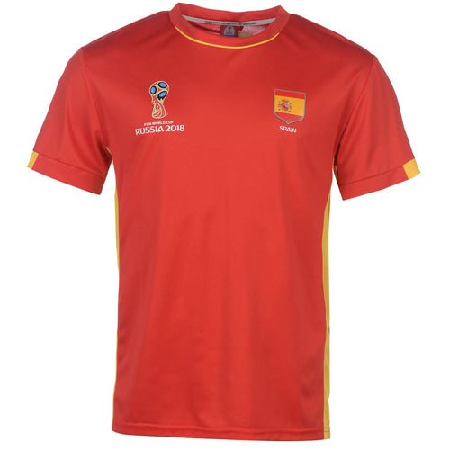 Mens Football T-shirt Spain