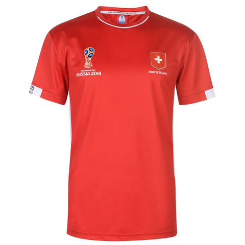 Mens Football T-shirt Switzerland