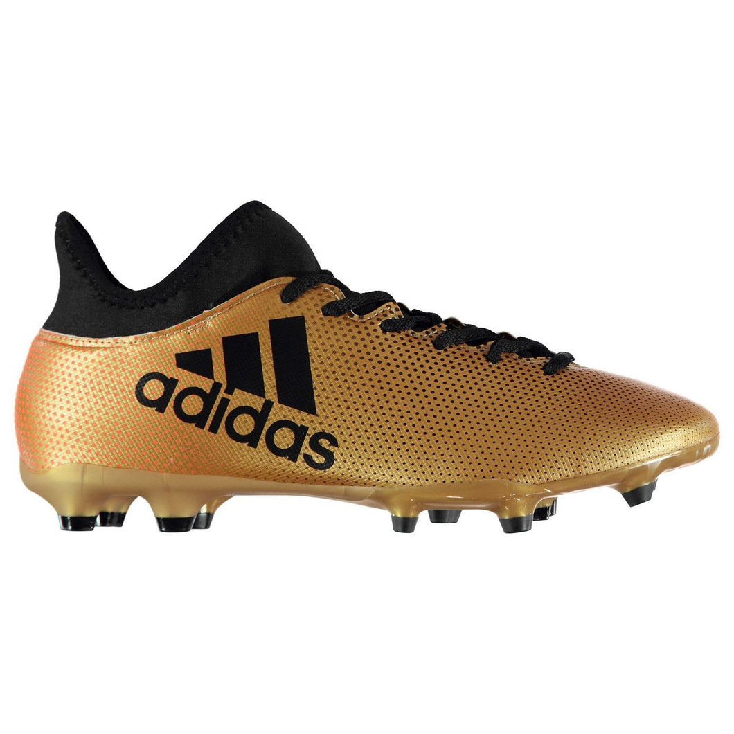 adidas X 17.3 FG Firm Ground Football Boots Mens Gold/Black Soccer Shoes Cleats
