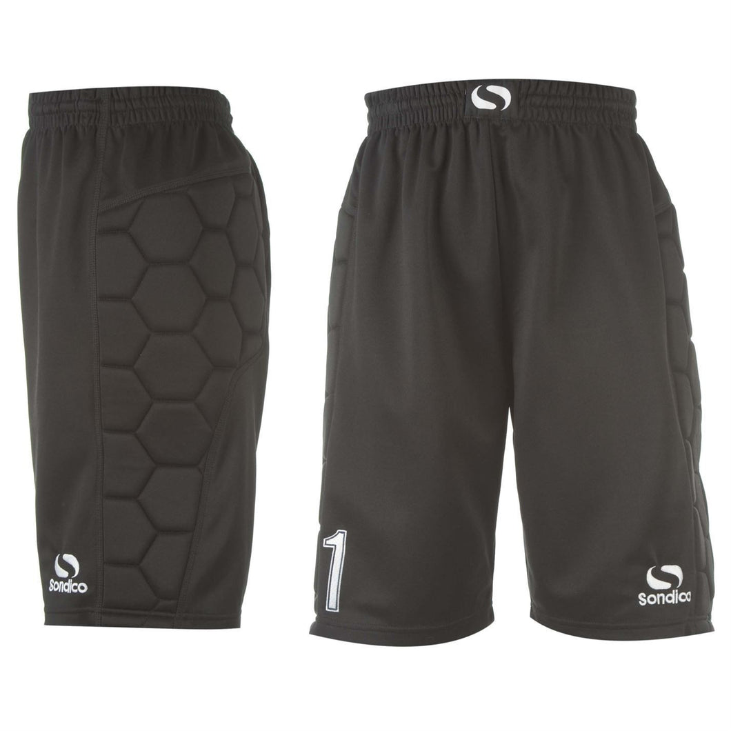 Sondico Paddded Goalkeeper Shorts Black Mens