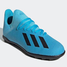 adidas X 19.3 Astro Turf Football Boots Junior Boys Cyan/Black