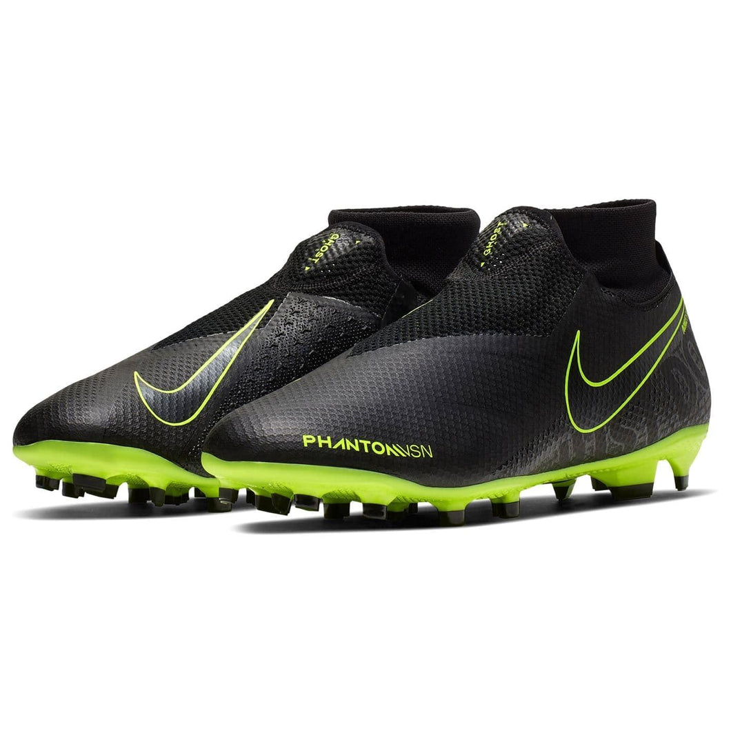 Nike Phantom Vision Pro DF FG Football Boots Mens Black/Yellow