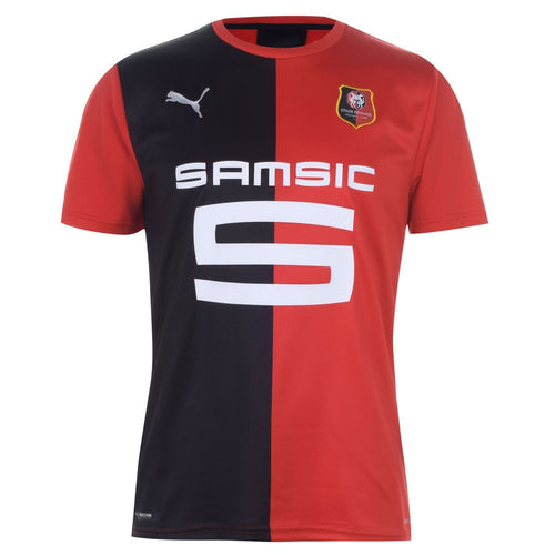 Puma Stade Rennais Home Shirt 2019 20 Mens Red/Black