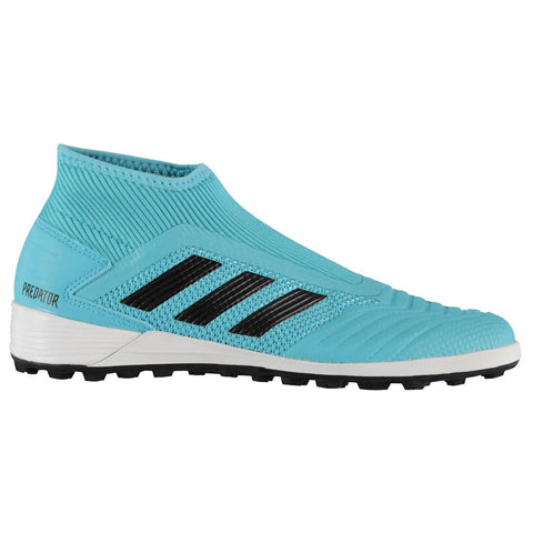 adidas Predator 19.3 Laceless Astro Turf Football Boots Mens Cyan/Black