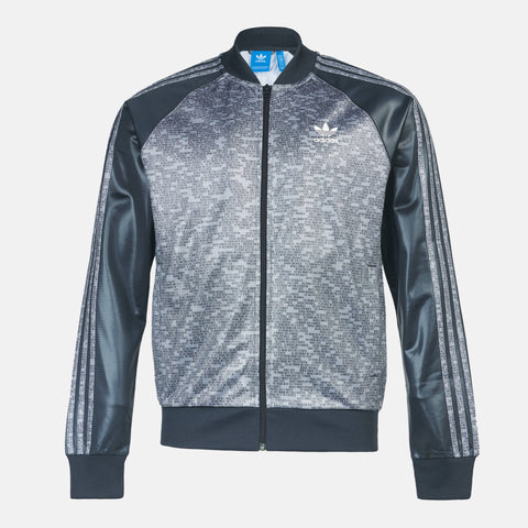 adidas Essentials SST Track Jacket Mens Grey