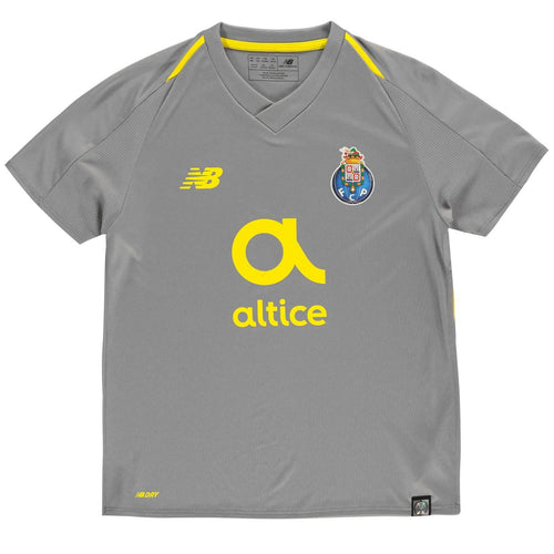 New Balance Porto Away Jersey 2018 2019 Juniors Grey