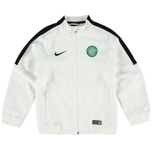Nike Celtic Squad Sideline Woven Jacket White Juniors