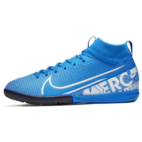 Nike Mercurial Superfly Academy DF Indoor Football Boots Junior Boys Blue /White