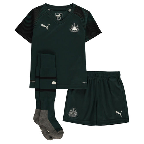 Puma Newcastle United Away Mini Kit 2019 2020 Childs Green/Black