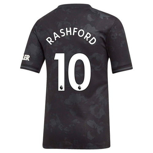 adidas Manchester United Rashford 3rd Shirt 2019 20 Juniors Blk