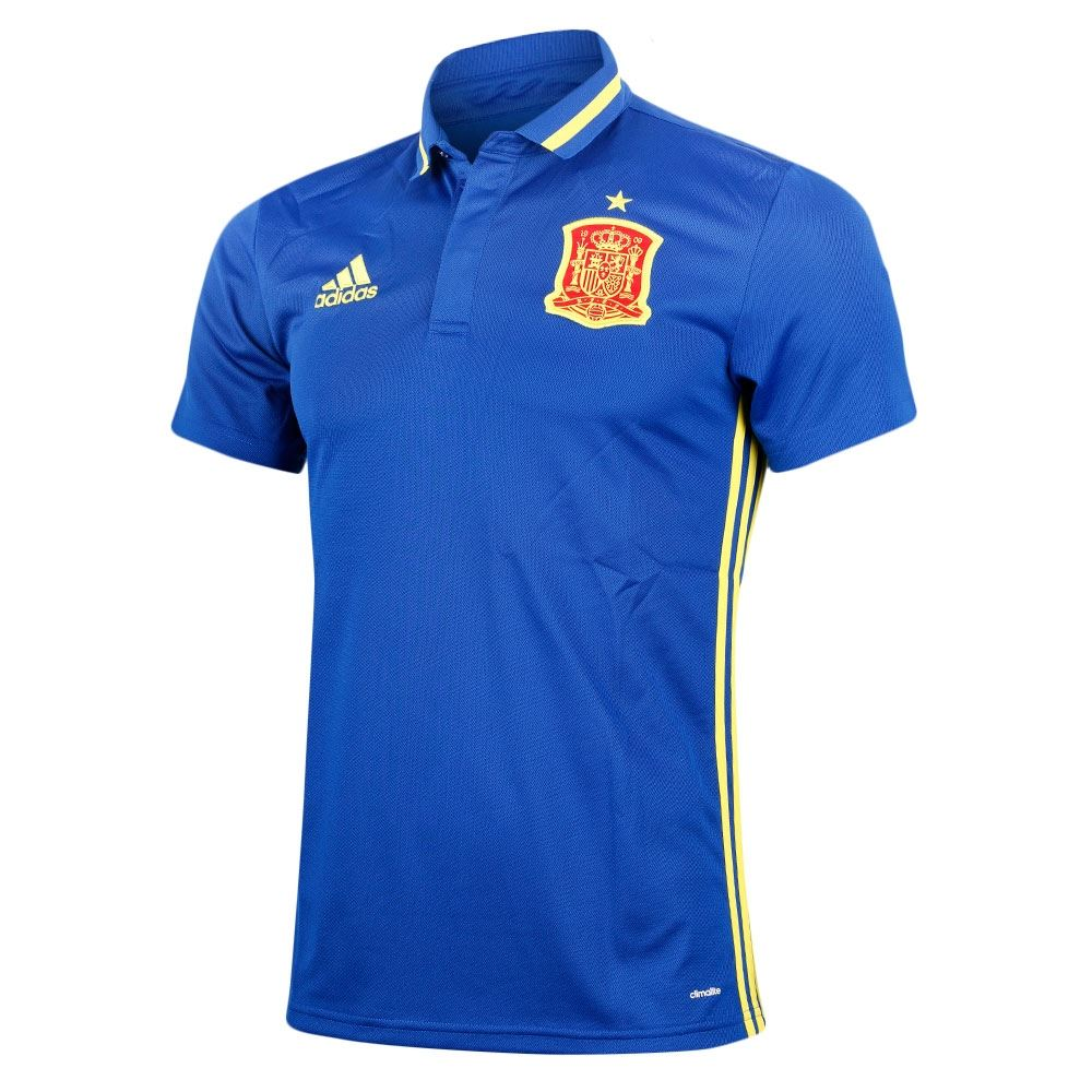 adidas Spain FEF Climalite Polo Shirt Blue Mens
