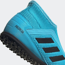 adidas Predator 19.3 Laceless Astro Turf Football Boots Junior Boys Cyan/Black