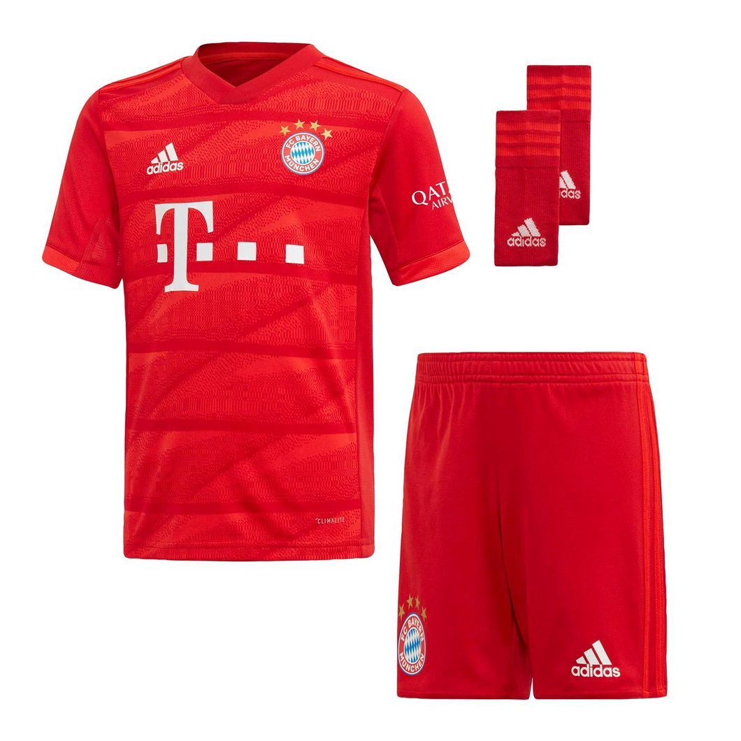 adidas Bayern Munich Home Mini Kit 2019 2020 Childs Red