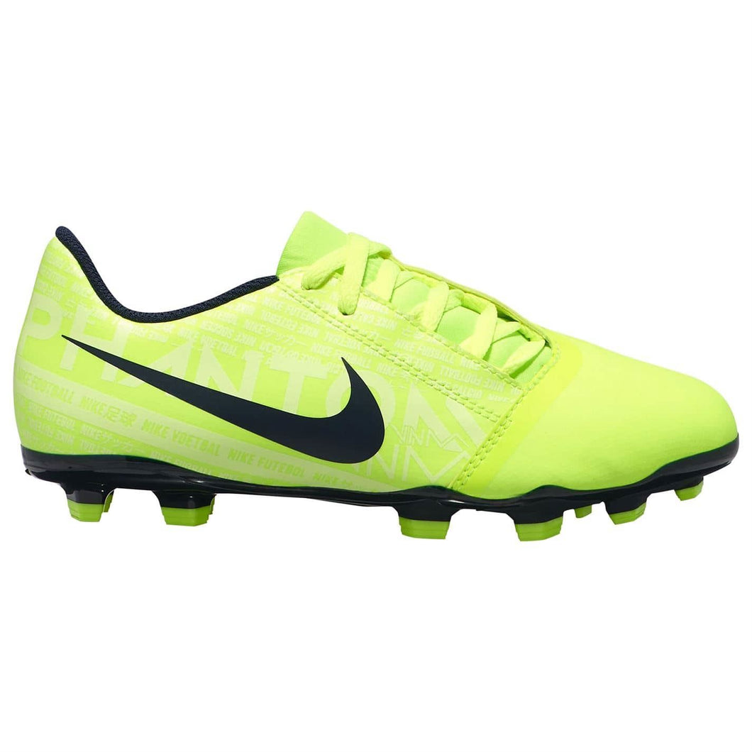 Nike Phantom Venom Club FG Football Boots Junior Boys Yellow/Obsidian