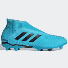 adidas Predator 19.3 Laceless FG Football Boots Mens Cyan/Black