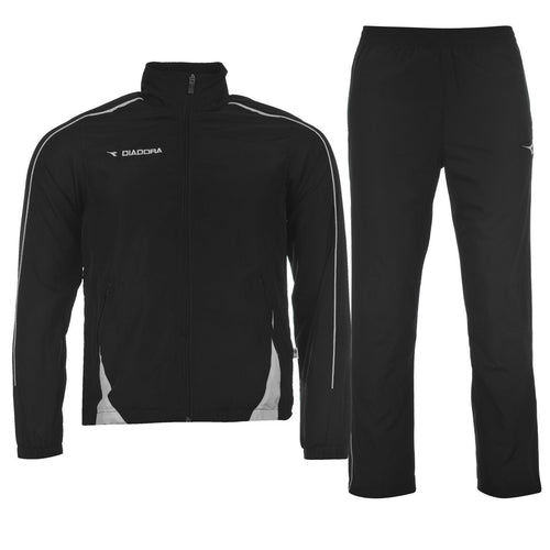 Diadora Pretoria 2 Piece Football Training Tracksuit Black Junior Boys