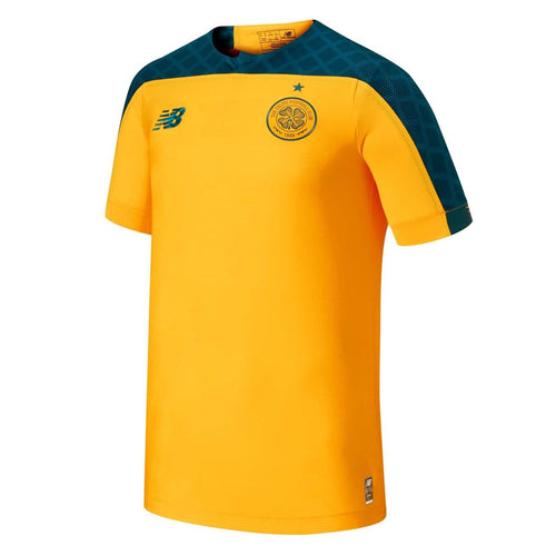New Balance Celtic Away Shirt 2019 2020 Juniors Gold