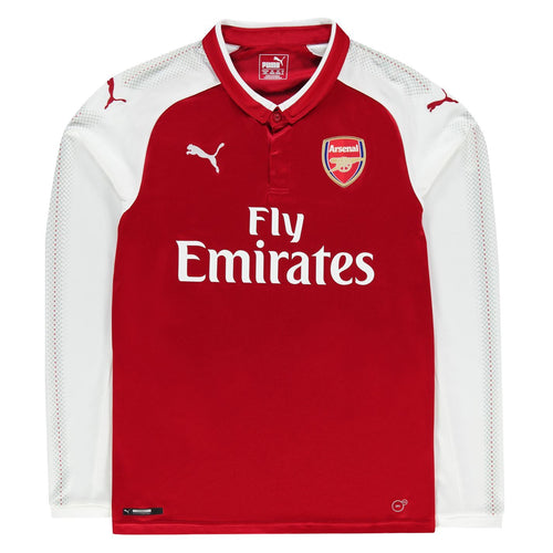 Puma Arsenal Home Long Sleeve Jersey 2017 2018 Juniors Red