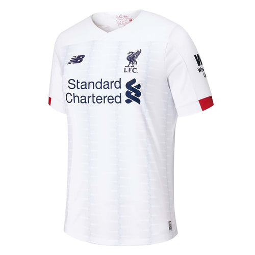 New Balance Liverpool Away Shirt 2019 20 Juniors White