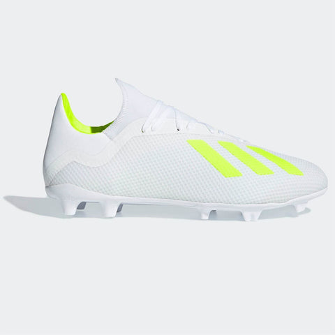adidas X 18.3 FG Football Boots Mens White/Yellow