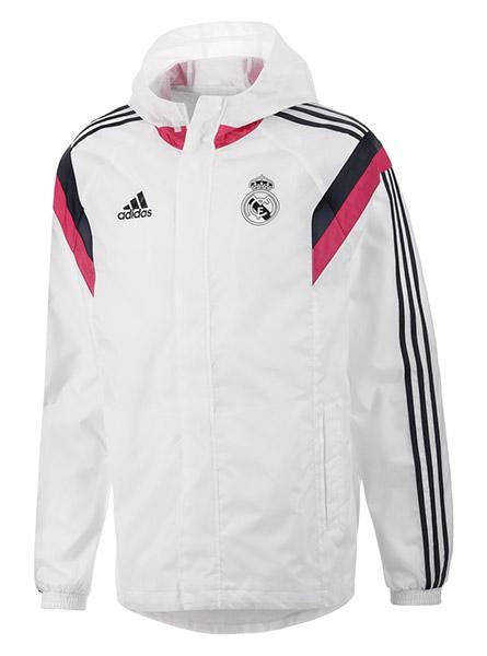 adidas Real Madrid All Weather Jacket Whie/Black Mens