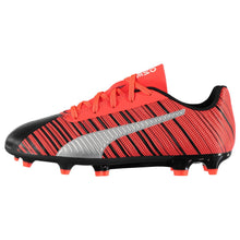 Puma One 5.4 FG Firm Ground Football Boots Juniors Black/Red