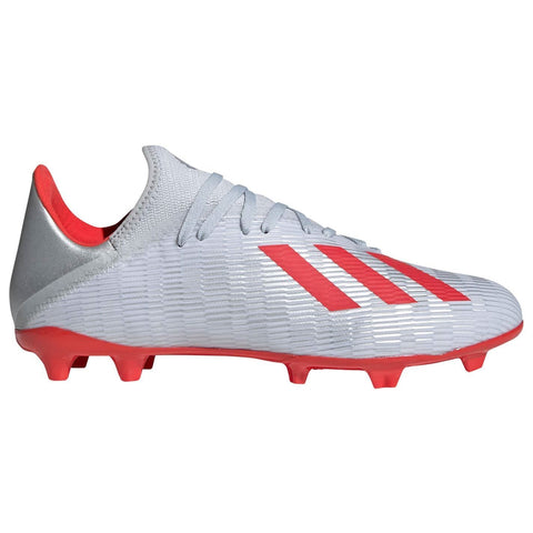 adidas X 19.3 Firm Ground Football Boots Mens Silver/Red