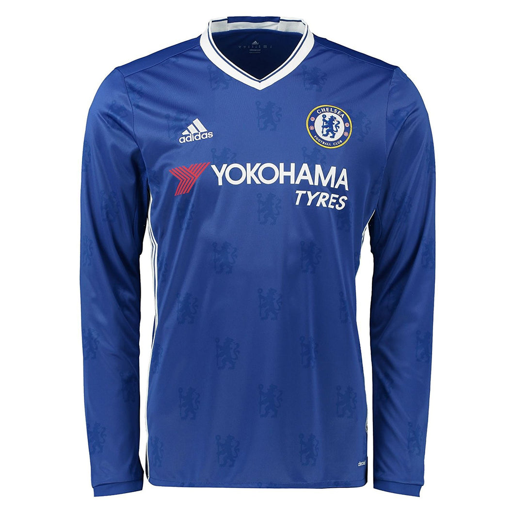 adidas Chelsea 2016 2017 Home Jersey Long Sleeve Juniors Blue
