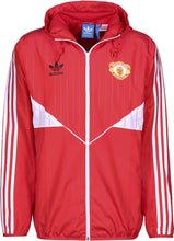adidas Manchester United Retro Windbreaker Jacket Mens Red
