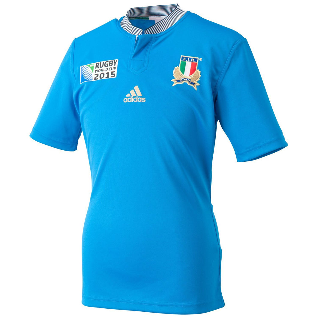 adidas Italy Rugby World Cup 2015 Jersey FIR Italia Juniors Blue
