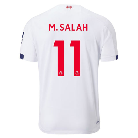 New Balance Liverpool Salah Away Shirt 2019 20 Mens White