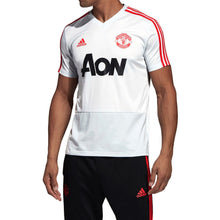 adidas Manchester United Training Shirt Mens Grey/Red