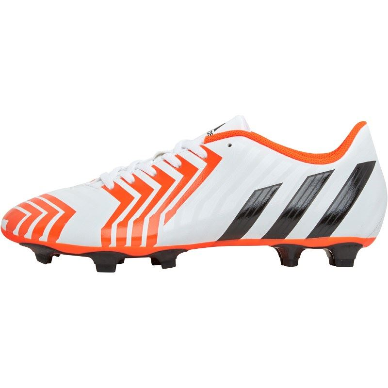 Adidas Predito Instinct FG Firm Ground Football Boots White/Red/Black Mens