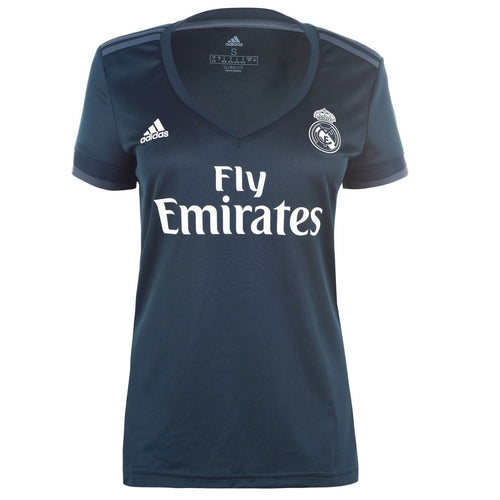 adidas Real Madrid Away Shirt 2018 2019 Womens Blue