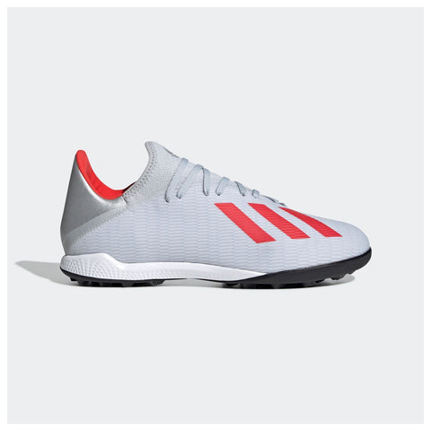adidas X 19.3 Astro Turf Football Shoes Mens Silver/Red