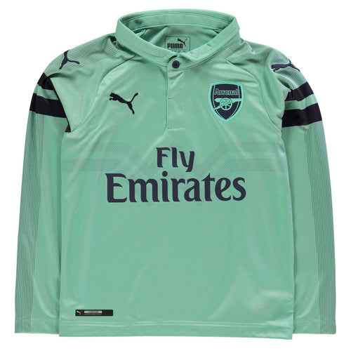 Puma Arsenal Long Sleeve Third Jersey 2018 2019 Juniors Green