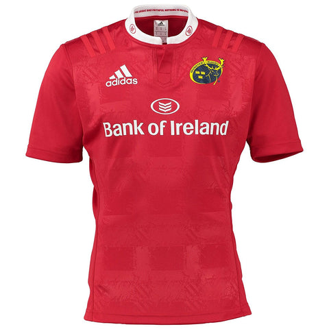 adidas Munster Rugby Home Jersey Mens Red