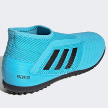 adidas Predator 19.3 Laceless s Astro Turf Football Boots Child Boys Cyan/Black