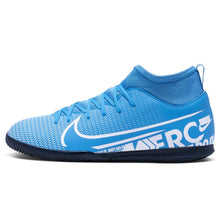 Nike Mercurial Superfly Club DF Indoor Football Boots Junior Boys Blue /White
