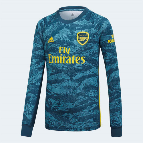 adidas Arsenal Home Goalkeeper Shirt 2019 20 Juniors Green