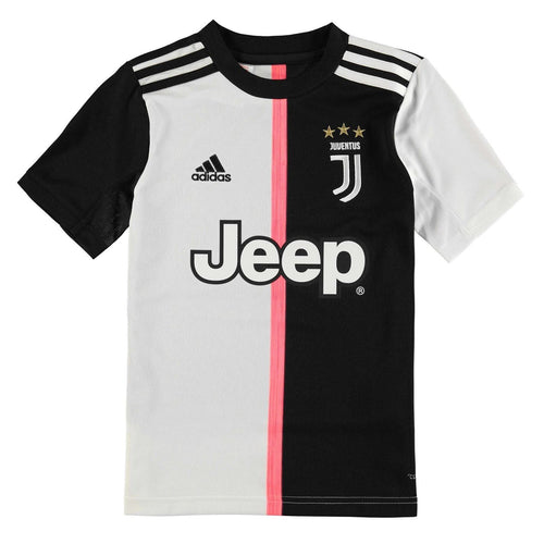 adidas Juventus Home Shirt 2019 20 Juniors Black/White